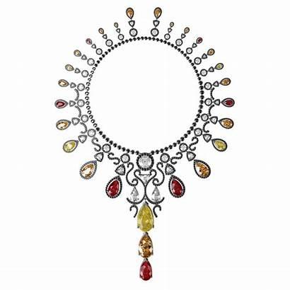 Necklace Volcano Armoura Diamonds Sapphires