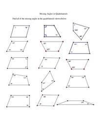 Find Missing Angles Worksheet Missing Angles In Quadrilaterals Ws