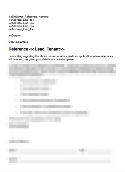Tenant Recommendation Letter Sample