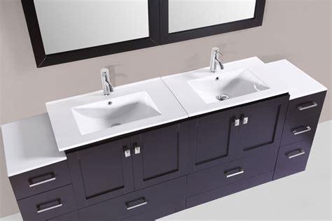 designer bathroom vanity 84 quot redondo espresso modern bathroom vanity with 2