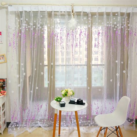 purple patterned curtains 10 inspirational white sheer curtains with designs