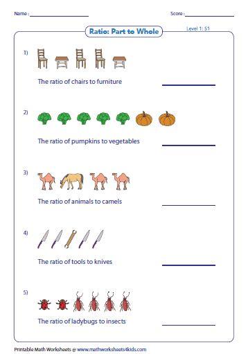 equivalent ratios worksheet math drills math worksheets