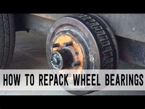 Boat Trailer Wheel Bearing Inspection by How To Grease Trailer Wheel Bearings With Ez Lube Grease