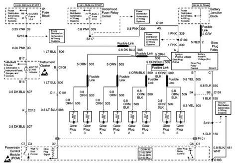 95 Chevy Diesel Wiring Diagram by 95 K2500 Glow Relay Wiring Diesel Bombers