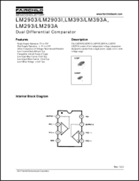 LM393 Datasheet - Dual Differential Comparator from ...