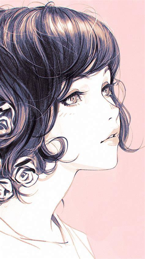 az girl flower lady pink ilya kuvshinov illustration art