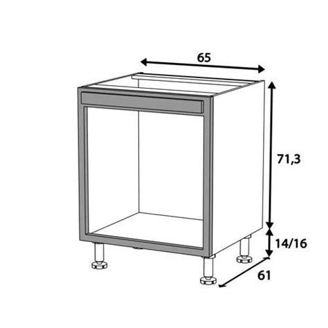 meuble cuisine pour four meuble bas cuisine pour four encastrable cuisine en image