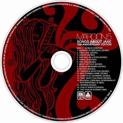 Maroon Jane Songs Album Cd Disc Fanart