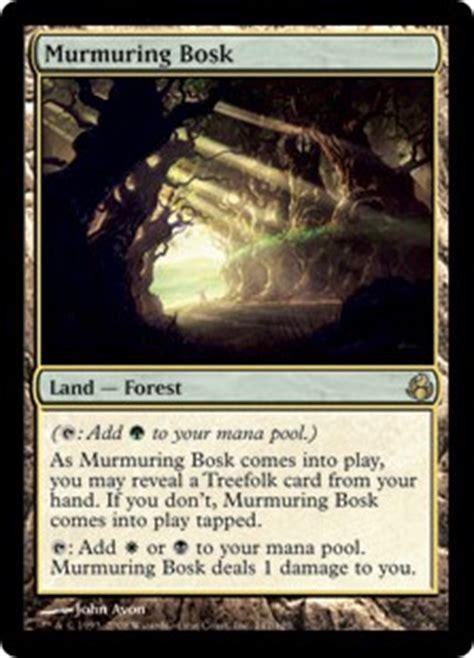 Mtg Treefolk Deck Modern by Murmuring Bosk Morningtide Gatherer Magic The Gathering