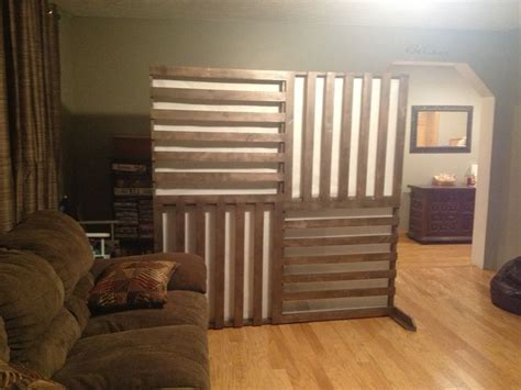 diy wall divider screen pallet inspired  rice paper