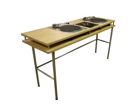 wooden dj table wood nik dj table now that is a clever design food