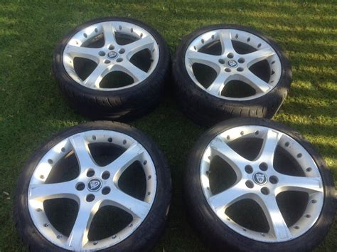 4 Proteus 18 Inch Jaguar X Type Alloy Wheels.