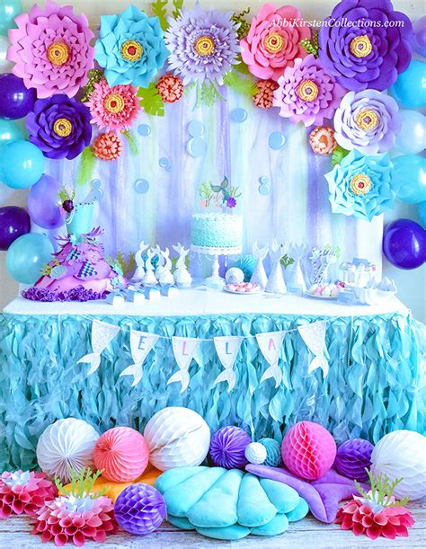 Decorate Your Mermaid Party Like A Pro [ Diy ]  By Press