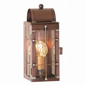 Slender, Entry, Colonial, Lantern, Rustic, Antique, Copper, Primitive, Wall, Candle, Light
