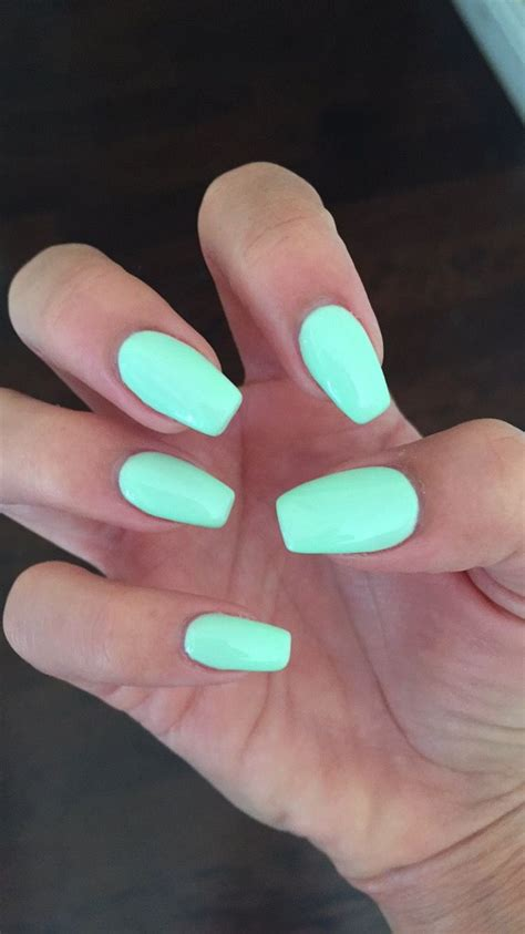 color for nails coffin nails with gelish quot do you harajuku quot mint nail color