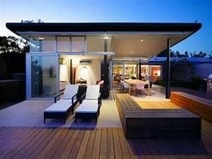 stunning idee terrasse contemporaine gallery lalawgroup With charming amenagement exterieur maison moderne 10 la pergola bioclimatique decoration et fonctionnalite