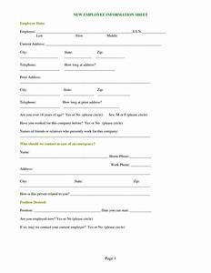 Best photos of new employee form template employee new for New employee information template