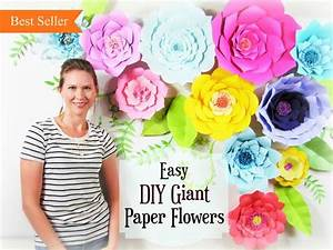 Giant Paper Flower Tutorial  Large Paper Flowers  Wedding