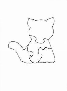 Holzarbeiten Mit Kindern Vorlagen : wood jigsaw puzzle cat puzzle holzarbeiten holz muster bastelideen und dekupiers ge vorlagen ~ Watch28wear.com Haus und Dekorationen