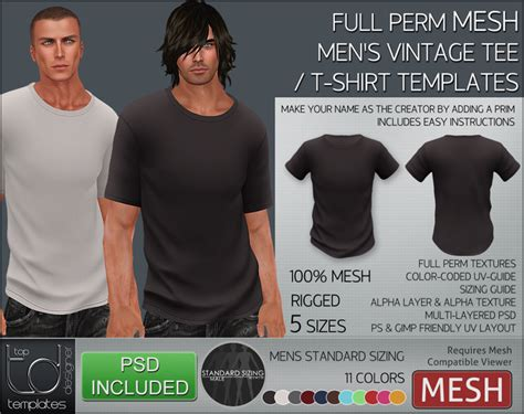 Second Life Marketplace Templates Mens Mesh