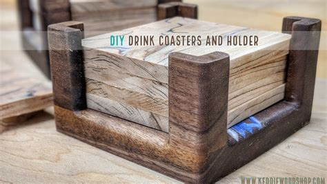 Diy Drink Coasters And A Holder