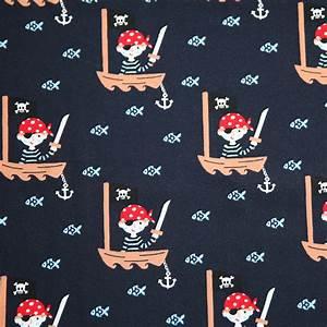 Jersey Stoffe Online Kaufen : jersey stoff marineblau pirat seer uber g nstig online kaufen ~ Markanthonyermac.com Haus und Dekorationen