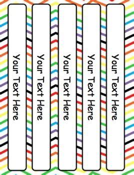 rainbow editable binder covers dividers  spine