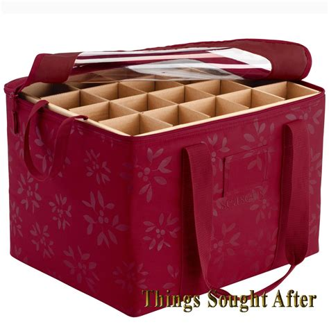 ornament storage organizer for christmas tote bin box bag