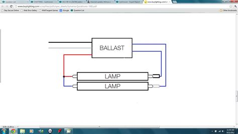What The Ballast Wiring Set When Converting From