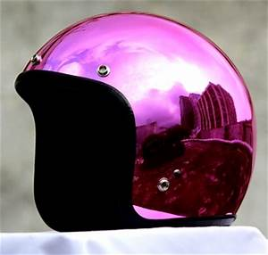 Masei Pink Chrome 610 Open Face Motorcycle Helmet Free