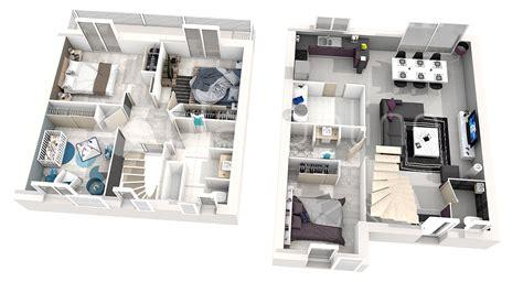 faire une chambre en 3d plan d 39 une maison en 3d avec 5 chambre maison moderne