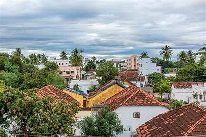 Village India Clouds Indian Rural Town Outdoor