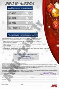 Offre De Remboursement : offre de remboursement odr 30 sur autoradio jvc ~ Carolinahurricanesstore.com Idées de Décoration