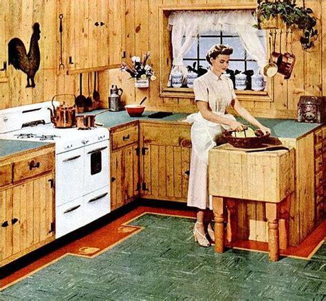 cabin kitchen vintage cabin knotty pine