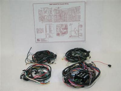 1978 Corvette Wiring Harnes Kit by 72 Wire Harness Set With Air Conditioning 350 Automatic