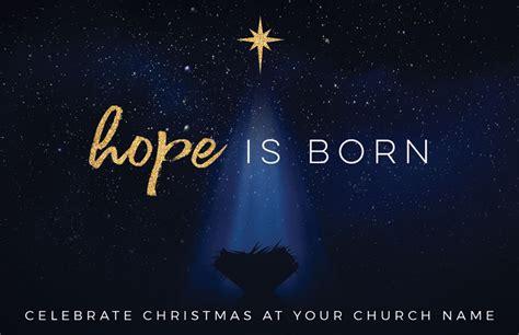 christmas star hope  born invitecard church