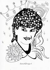 Famous Coloring Pages Print Lady Di Celebrities Celebs Books sketch template