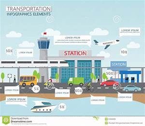 Transportation And City Stock Vector  Illustration Of