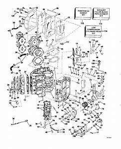 Evinrude Cylinder  U0026 Crankcase Parts For 1982 115hp