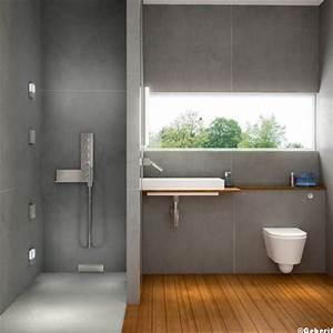 la douche a l39italienne pratique et super tendance 11 With salle de bain design avec décoration fenetre bois