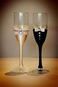 wedding glasses champagne glasses glasses rustic wedding With decorating wedding glasses for bride and groom