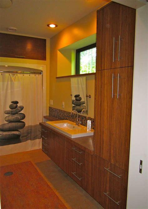 hand  custom bamboo plywood vanity  vermont fine