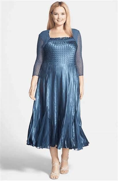 Chiffon Dresses Komarov Charmeuse Embellished Wantering