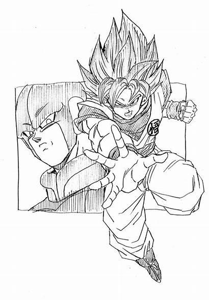 Goku Hit Dragon Ball Tracing Desenho Vs