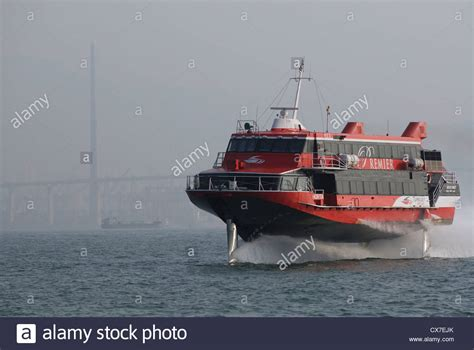 Fast Boat Hong Kong To Macau by Jet Foil Fast Ferry Traveling From Hong Kong Harbour To