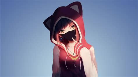 hoodie anime girl wallpapers hd wallpapers id