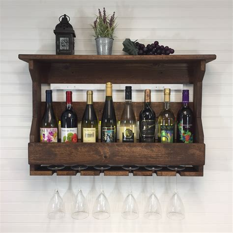 wooden wine rack wall mounted wine rack handcrafted wine