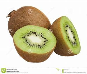 Kiwi Cut In Half Isolated On White Background Stock Images ...