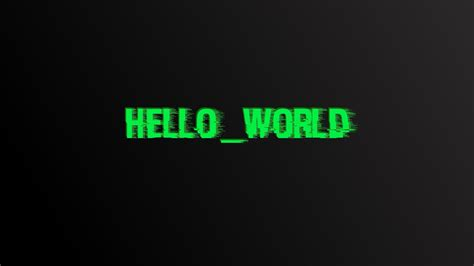 Hello World, Glitch Art, Digital Art, Typography Hd