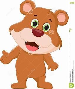 Cute Brown Bear Cartoon Stock Vector - Image: 72024802